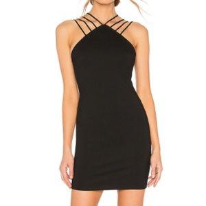 by the way Baylee Strap Mini Dress Black Strappy